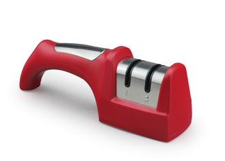 Red Home Ceramic Knife Sharpener With Comfortable Handle 205 * 65 * 52mm Size